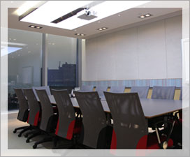 Led lighting used in commercial boardroom
