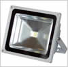 Powerful LED floodlight for use outdoors as security or display lighting